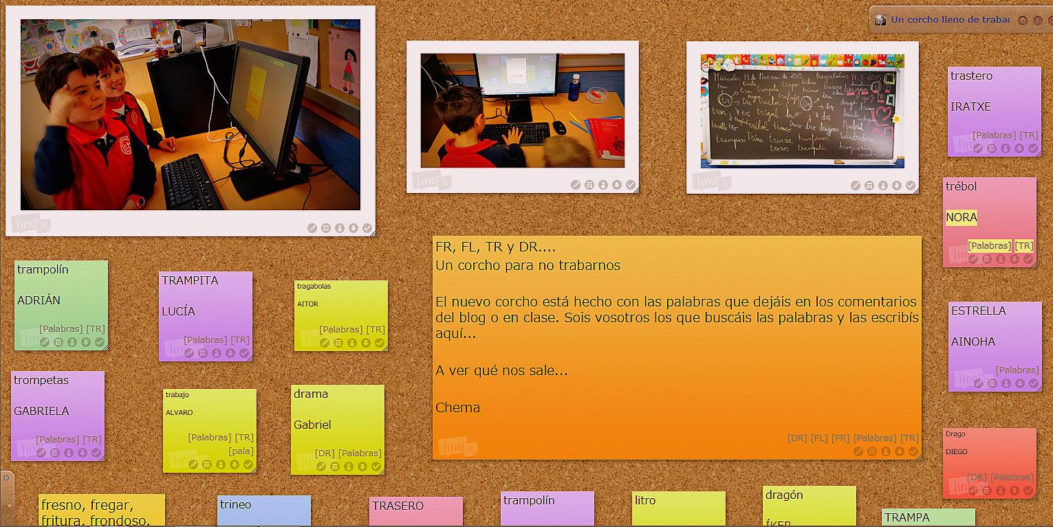 Estamos creando - a ratitos- corchos digitales en las sesiones de Lengua...